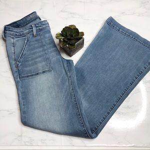 """American Eagle super stretch A-line jeans, 9"""" rise"""